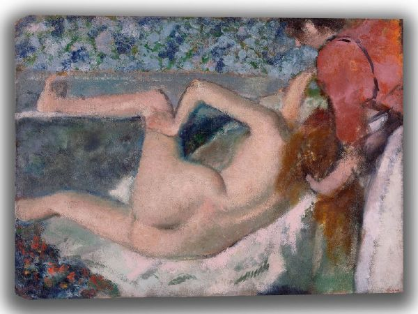 Degas, Edgar: After the Bath. Fine Art Canvas. Sizes: A4/A3/A2/A1 (003734)